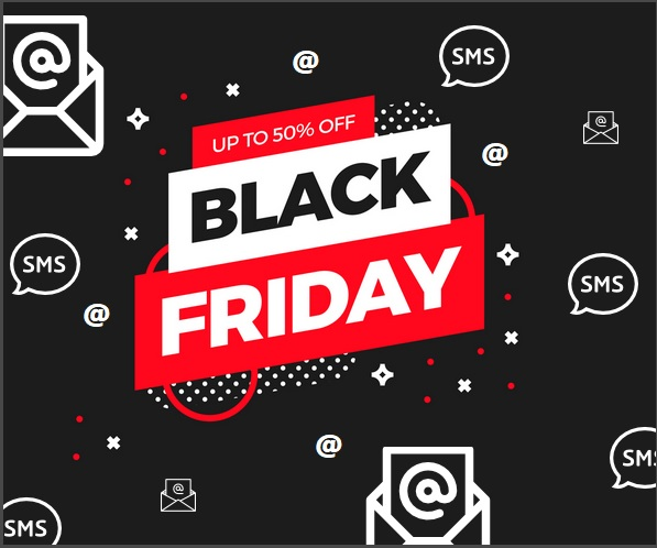 Black friday comunica con sms email