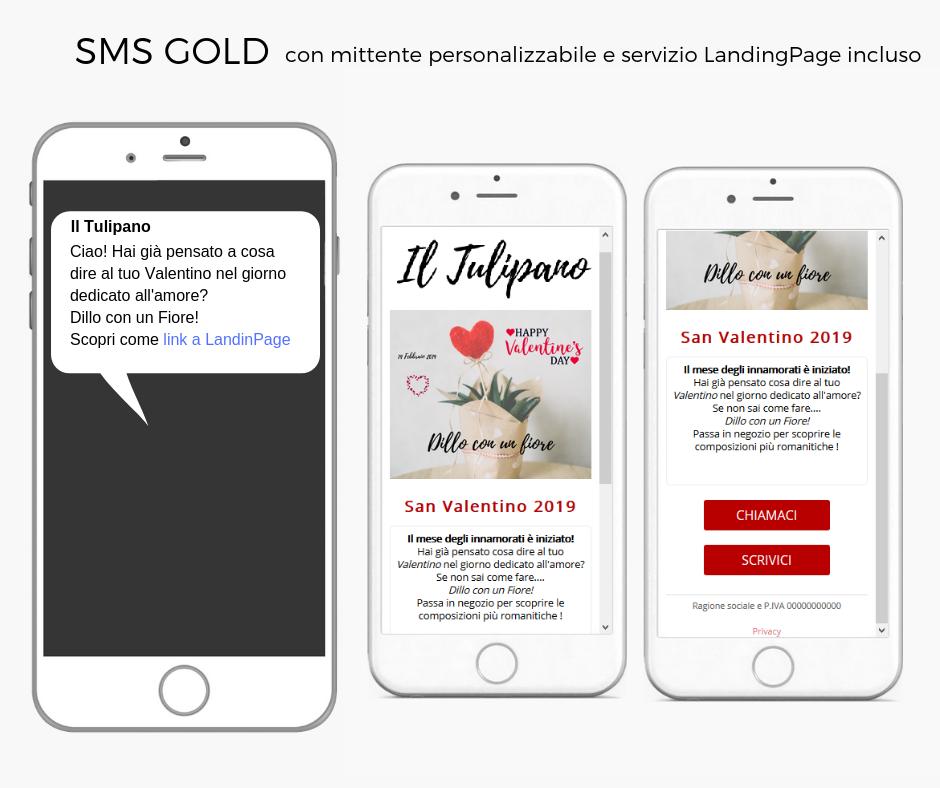 San valentino Vola SMS LandingPage