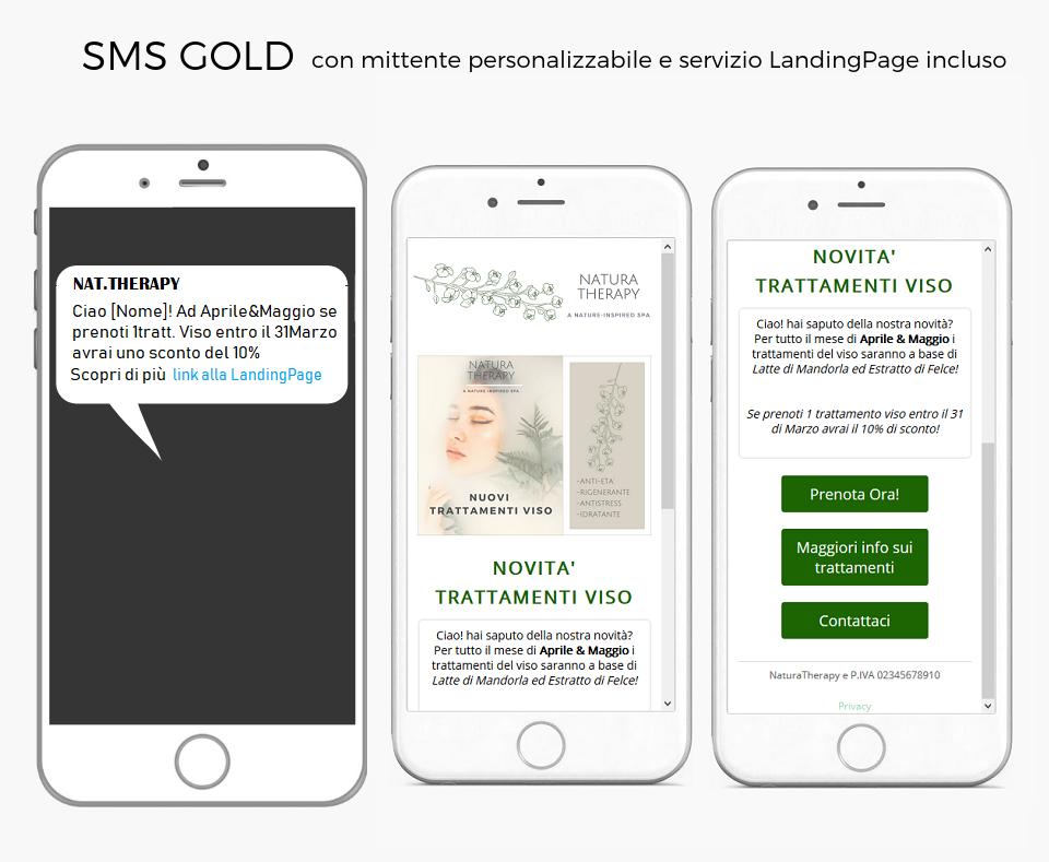 Beauty SMS LandingPage