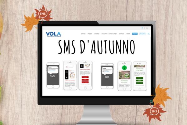 SMS d'autunno con la piattaforma di Vola spa