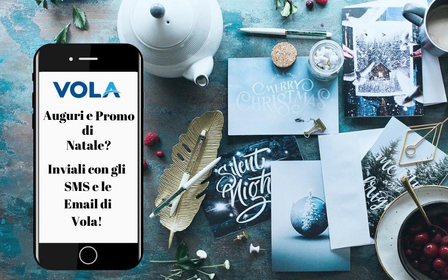 comunicazione natalizia con sms ed email di vola spa