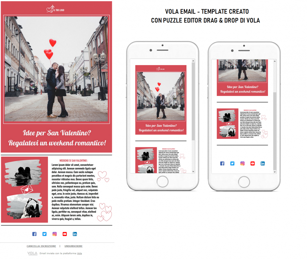 San Valentino email Vola