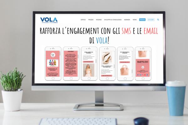 Engagement con gli sms e le email di Vola